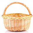 Empty wicker basket, isolated on white — Stock Photo #37106383