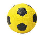 Children's yellow football ball, isolated on white — Stockfoto