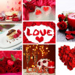 Valentine's Day collage — Stockfoto