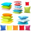 Collage of color pillows — Stock Photo