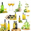 Stock Photo: Collage of wine tasting isolated on white