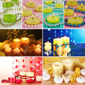 Candles collage — Stock Photo