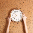 Clock on wall background — Stock Photo #37260919