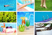 Vacation collage — Stock Photo