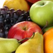 Composition of different fruits close up — Stock Photo