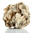 Stock Photo: Crumpled paper ball isolated on white