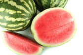 Ripe watermelons isolated on white — Stock Photo