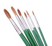 Many brushes isolated on white — 图库照片