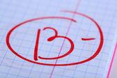 Klasy b-papierowej egzamin — Zdjęcie stockowe
