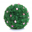 Christmas fir-tree ball with decoration isolated on white — Stock Photo #37290553