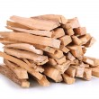 Stock Photo: Stack of firewood isolated on white