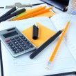 Office supplies close up — Stockfoto