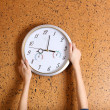 Clock on wall background — Stock Photo #37294477