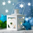 Christmas lantern on light background — Stock Photo #37294961