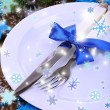 Decorated Christmas table setting — Stock Photo #37296721