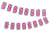 Garland of flags isolated on white — Stock Photo
