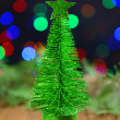 Stock Photo: Decorative Christmas tree isolated on white