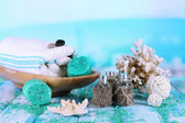Spa composition on sea background — Stockfoto