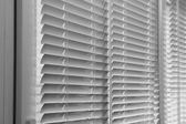 Balcony windows with shutters — Stock Photo
