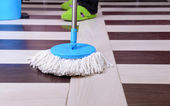 House cleaning with mop — Foto Stock