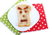 Funny toast, isolated on white — Stock Photo
