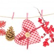 Christmas decorations isolated on white — Stock Photo #37610913