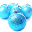 Stock Photo: Christmas balls, isolated on white