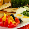 Traditional Turkish breakfast close up — Stock Photo #37616139