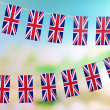 Garland of flags on bright background — Stock Photo #37617213