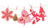 Christmas decorations isolated on white — Stockfoto