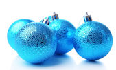 Christmas balls, isolated on white — Stock Photo