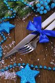 Krásné vánoční nastavení zblízka — Stock fotografie
