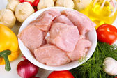 Raw turkey meat close up — Stock Photo