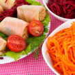 Stock Photo: Stuffed cabbage rolls close-up