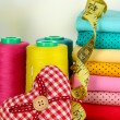 Cloth fabrics close up — Stock Photo #37622265
