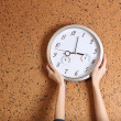 Clock on wall background — Stock Photo #37622657