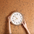 Clock on wall background — Stock Photo #37622679