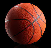Basketball on black background — Stock Photo