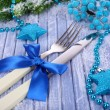 Beautiful Christmas setting close up — Stock Photo #37665541