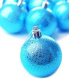Christmas balls, isolated on white — Stock Photo