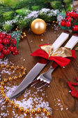 Beautiful Christmas setting close up — Foto Stock