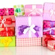 Hill colorful gifts isolated on white — Stockfoto