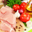 Stock Photo: Raw turkey meat close up