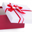 Stock Photo: Gift box, isolate on white