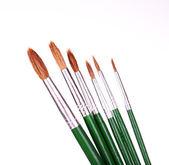 Many brushes isolated on white — Stock Photo