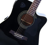 Acoustic guitar isolated on white — Stock Photo