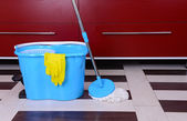 House cleaning with mop — ストック写真