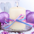 Christmas candles close up — Stock Photo #37779875