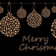 Christmas sparklers in shape of balls on black background — Stock Photo