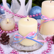 Stock Photo: Christmas candles close up